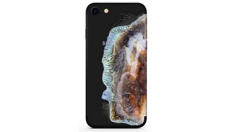 iphone-icin-yanmis-note-7-kilifi