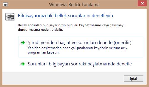 windows-bellek-tanilama